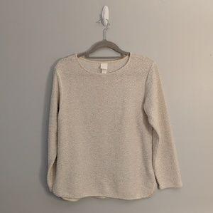 3/$25 H&M Textured White Crewneck Sweater